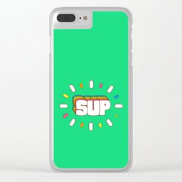 Sup! Colorful meme fun Clear iPhone Case