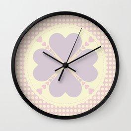 Cute heart Wall Clock