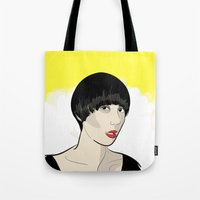 karen hallion Tote Bags featuring Karen Ooo by Nicky Phillips