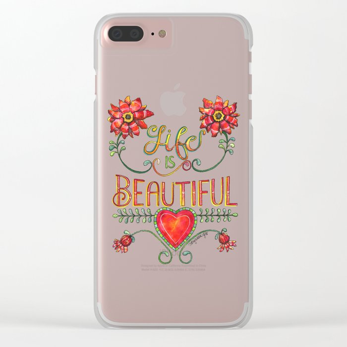 Life is Beautiful 1 Clear iPhone Case