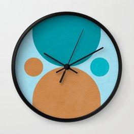 Time Flies 02 - Mid Century Modern Print Wall Clock