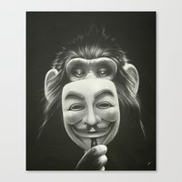 monkey Canvas Prints featuring Anonymous by Dr. Lukas Brezak