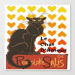 Le Chat Damour De Rodolphe Salis Valentine Cat Canvas Print