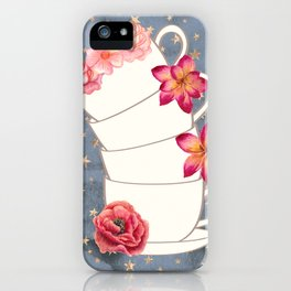 Floral Coffee Cups iPhone Case