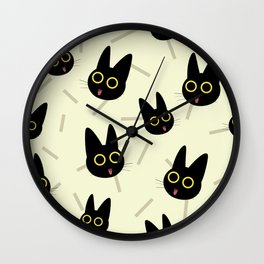 Happy Kitten pattern Wall Clock