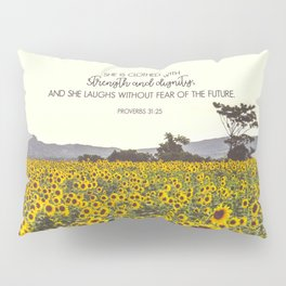 Proverbs and Sunflowers Pillow Sham