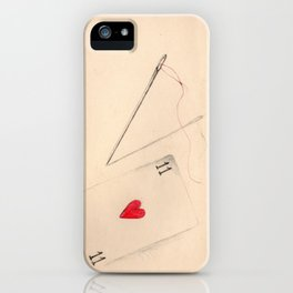 Red Thread iPhone Case