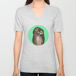 Curios Owl from Animal Society Unisex V-Neck