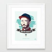 chvrches Framed Art Prints featuring Martin Doherty  - CHVRCHES by Derek Brown