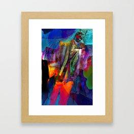 Walking with Sunset  Framed Art Print