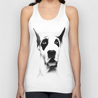 great dane Tank Tops featuring Great Dane  by Mr Shins