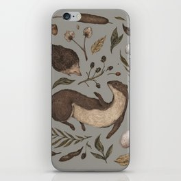 Weasel and Hedgehog iPhone Skin