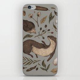 Weasel and Hedgehog iPhone Skin