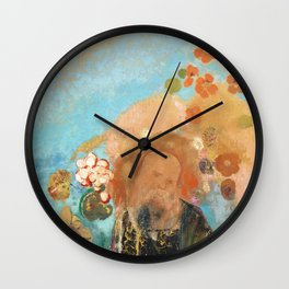 Evocation of Roussel (1912) by Odilon Redon Wall Clock