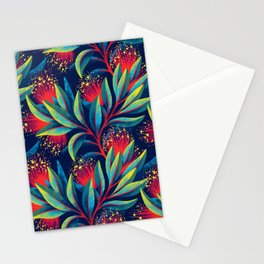Pohutukawa - Red / Green Stationery Cards