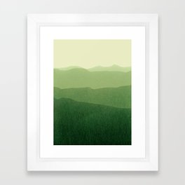 gradient landscape green Framed Art Print