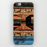 pagan iPhone & iPod Skins featuring Pagan River Bridge by Anthony M. Davis