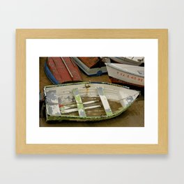 Sandy Spanish Row Boat  Framed Art Print