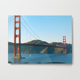 Golden Gate Bridge Art Metal Print