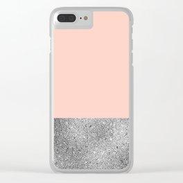 Peach like a diamond Clear iPhone Case