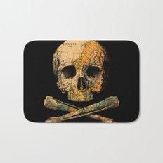 Treasure Map Skull Wanderlust Europe Bath Mat