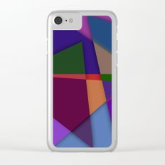 Abstract #425 Clear iPhone Case