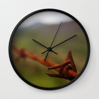 the wire Wall Clocks featuring Wire by Elliott Kemp Photography