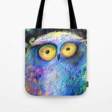 deep night owl Tote Bag