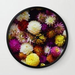 Pop Color Flowers (Color) Wall Clock