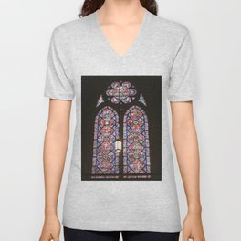 Stained Glass Window Unisex V-Neck