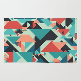 Abstract geometric background. Retro overlapping large and small triangles. Rug