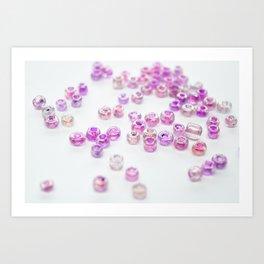 Pink and Purple beads Art Print