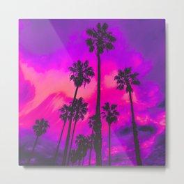 Aesthetic Palms Metal Print