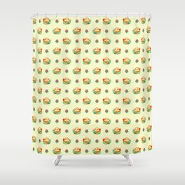 CHICKS-IN-A-BASKET Shower Curtain