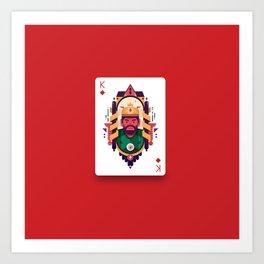 King of Diamond Art Print