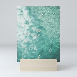 Surfing in the Ocean Mini Art Print