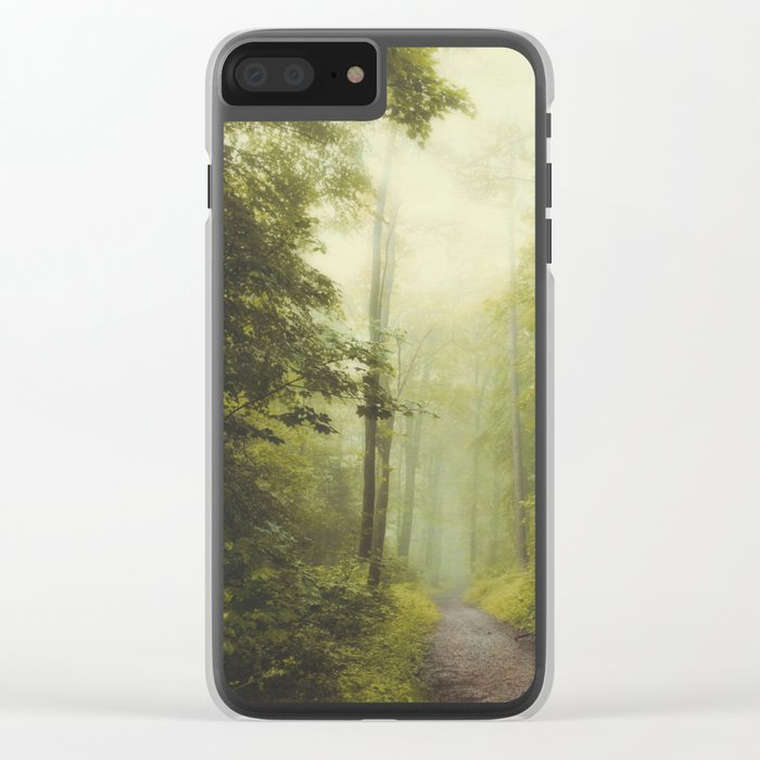 Long Forest Walk Clear iPhone Case