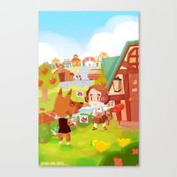 animal crossing Canvas Prints featuring Animal Crossing by Sama Ma