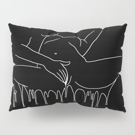 Colorful Climax line b&w - Erotic Art Illustration Nude Sex Sexual Love Lovers Relationship Couple Pillow Sham