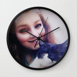 Lucinda and Holly Wall Clock