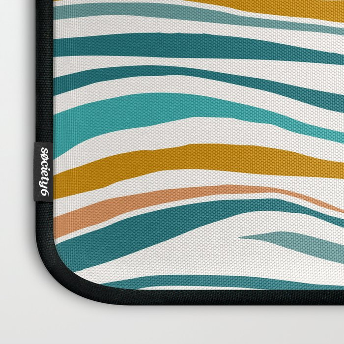 The Sun and The Sea - Gold and Teal Laptop Sleeve