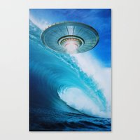 ufo Canvas Prints featuring UFO by John Turck