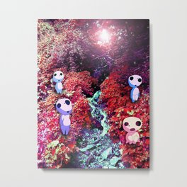 Kodama by the Stream Metal Print