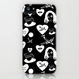 aspri petra white stone heart invert iPhone Case