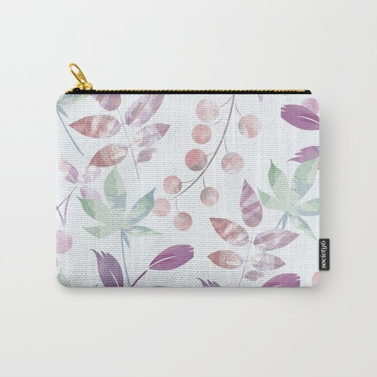Flower Pattern Carry-All Pouch