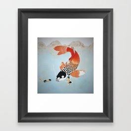 Confidences d'enfants Framed Art Print