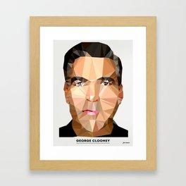 George Clooney Poly Framed Art Print