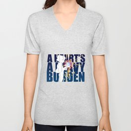 A heart is a heavy burden Unisex V-Neck