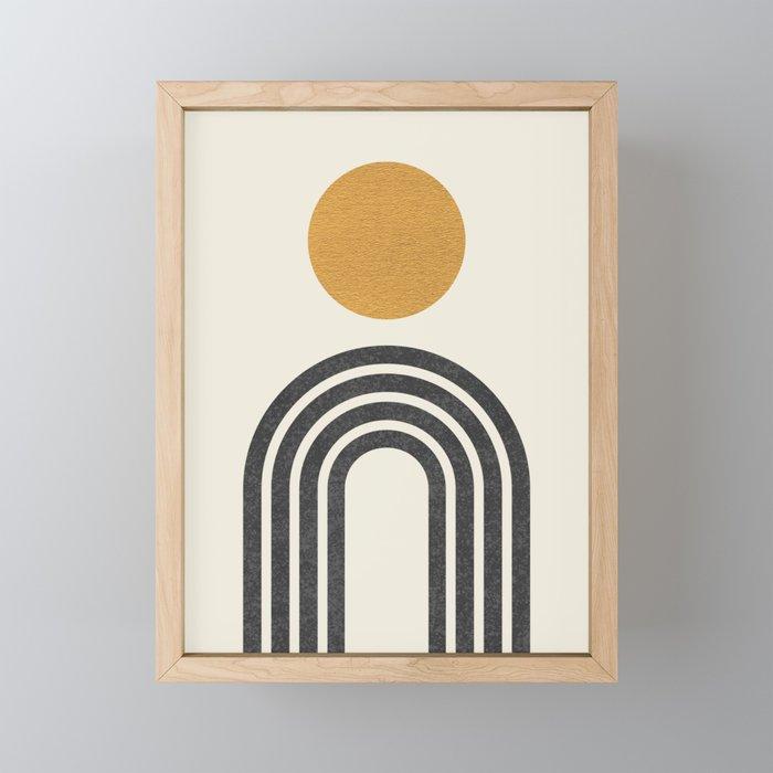 Mid century modern gold Framed Mini Art Print