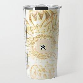 Tricolor Aleph Mandala Travel Mug